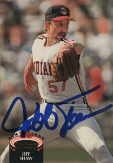 JEFF SHAW - TRADING/SPORTS CARD SIGNED