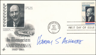 HARRY SCOTT ASHMORE - FIRST DAY COVER SIGNED