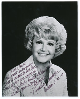 NORMA ZIMMER - AUTOGRAPH NOTE ON PHOTOGRAPH SIGNED