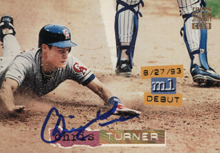 CHRIS TURNER - TRADING/SPORTS CARD SIGNED