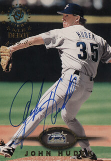 JOHN HUDEK - TRADING/SPORTS CARD SIGNED