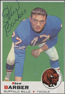 Autographs: STEW BARBER - TRADING/SPORTS CARD SIGNED