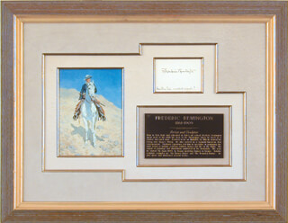 Autographs: FREDERIC REMINGTON - AUTOGRAPH NOTE SIGNED