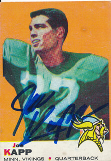 JOE KAPP - TRADING/SPORTS CARD SIGNED