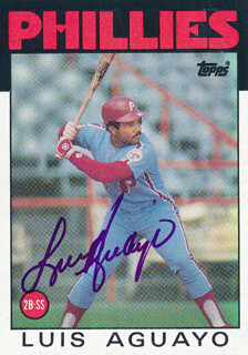 Autographs: LUIS AGUAYO - TRADING/SPORTS CARD SIGNED