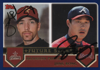 BRANDON PUFFER - TRADING/SPORTS CARD SIGNED CO-SIGNED BY: JUNG-KEUN BONG