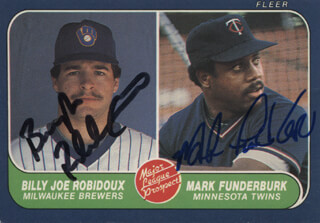 BILLY JOE ROBIDOUX - TRADING/SPORTS CARD SIGNED CO-SIGNED BY: MARK FUNDERBURK