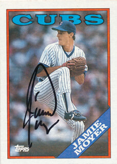 JAMIE MOYER - TRADING/SPORTS CARD SIGNED