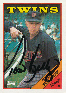 TOM KELLY - TRADING/SPORTS CARD SIGNED