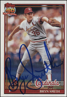 BRYN SMITH - TRADING/SPORTS CARD SIGNED