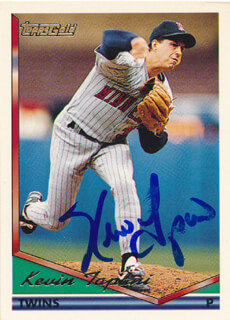 KEVIN TAPANI - TRADING/SPORTS CARD SIGNED