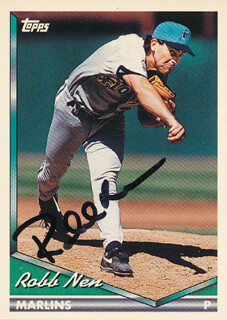 Autographs: ROBB NEN - TRADING/SPORTS CARD SIGNED