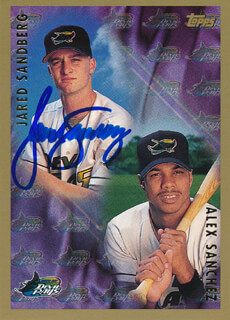 JARED SANDBERG - TRADING/SPORTS CARD SIGNED