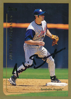 JUSTIN BAUGHMAN - TRADING/SPORTS CARD SIGNED