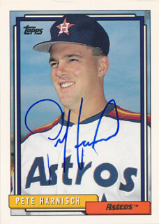 PETE HARNISCH - TRADING/SPORTS CARD SIGNED