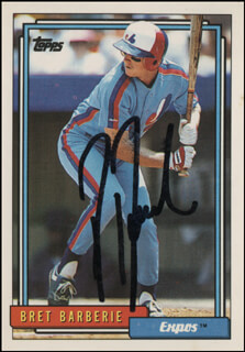 BRET BARBERIE - TRADING/SPORTS CARD SIGNED