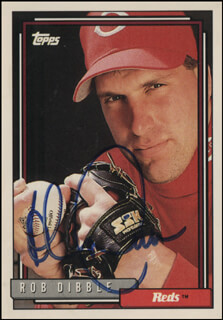 ROB DIBBLE - TRADING/SPORTS CARD SIGNED