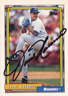 Autographs: JAIME NAVARRO - TRADING/SPORTS CARD SIGNED