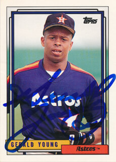 GERALD YOUNG - TRADING/SPORTS CARD SIGNED