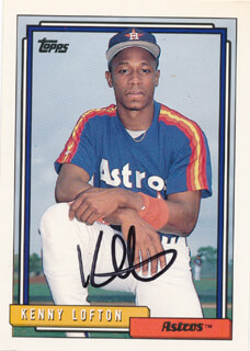 KENNY LOFTON - TRADING/SPORTS CARD SIGNED