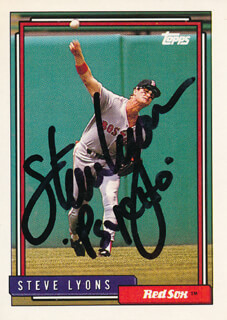 STEVE PYSCHO LYONS - TRADING/SPORTS CARD SIGNED