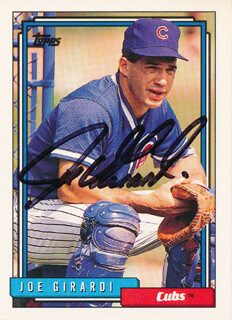 JOE GIRARDI - TRADING/SPORTS CARD SIGNED