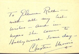CHESTER MORRIS - AUTOGRAPH NOTE SIGNED