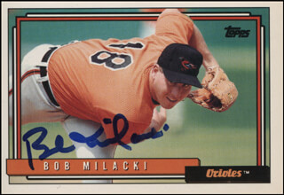 BOB MILACKI - TRADING/SPORTS CARD SIGNED