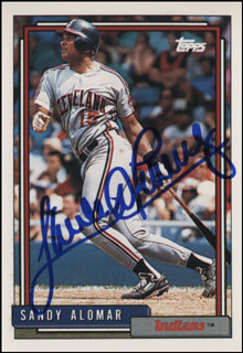 SANDY ALOMAR JR. - TRADING/SPORTS CARD SIGNED