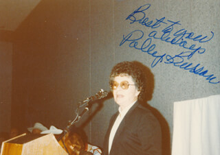 POLLY BURSON - AUTOGRAPHED SIGNED PHOTOGRAPH