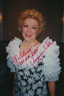 VIRGINIA VALE - AUTOGRAPHED INSCRIBED PHOTOGRAPH