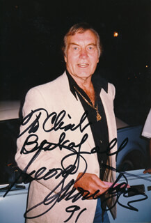 GEORGE MONTGOMERY - AUTOGRAPHED INSCRIBED PHOTOGRAPH 1991