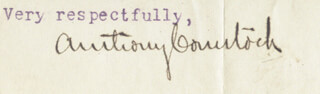 ANTHONY COMSTOCK - TYPED SENTIMENT SIGNED