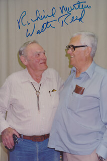 WALTER REED - AUTOGRAPHED SIGNED PHOTOGRAPH CO-SIGNED BY: RICHARD CHITO MARTIN