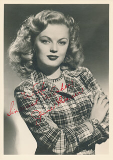 JUNE HAVER - AUTOGRAPHED SIGNED PHOTOGRAPH