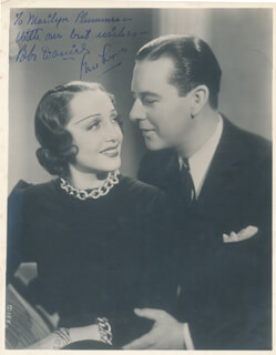BEN LYON - AUTOGRAPHED INSCRIBED PHOTOGRAPH CO-SIGNED BY: BEBE DANIELS