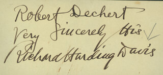 Autographs: RICHARD HARDING DAVIS - INSCRIBED SIGNATURE