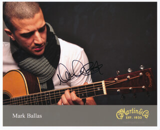 MARK BALLAS - PRINTED PHOTOGRAPH SIGNED IN INK