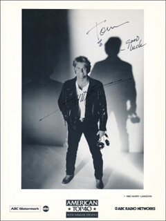 SHADOE STEVENS - INSCRIBED PRINTED PHOTOGRAPH SIGNED IN INK
