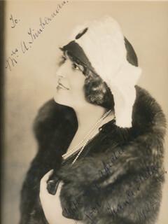 FRANCES ALDA - AUTOGRAPHED INSCRIBED PHOTOGRAPH 1924