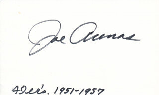 Autographs: JOE ARENAS - SIGNATURE(S)