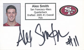 ALEX SMITH - PRINTED CARD SIGNED IN INK