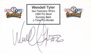 WENDELL TYLER - PRINTED CARD SIGNED IN INK