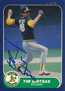 TIM BIRTSAS - TRADING/SPORTS CARD SIGNED