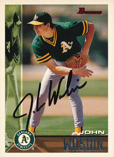 JOHN WASDIN - TRADING/SPORTS CARD SIGNED