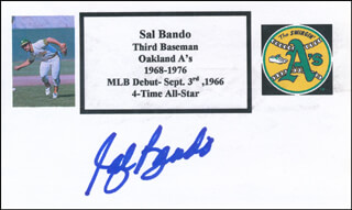 SAL BANDO - PRINTED CARD SIGNED IN INK