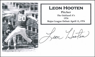 LEON HOOTEN - PRINTED CARD SIGNED IN INK