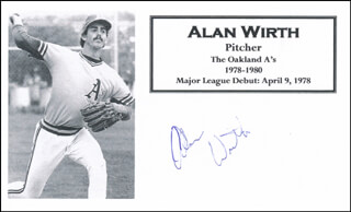 ALAN WIRTH - PRINTED CARD SIGNED IN INK