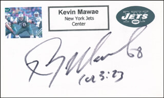 KEVIN MAWAE - PRINTED CARD SIGNED IN INK