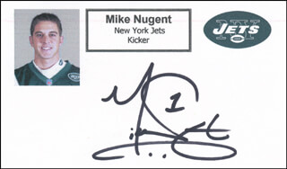 MIKE NUGENT - PRINTED CARD SIGNED IN INK